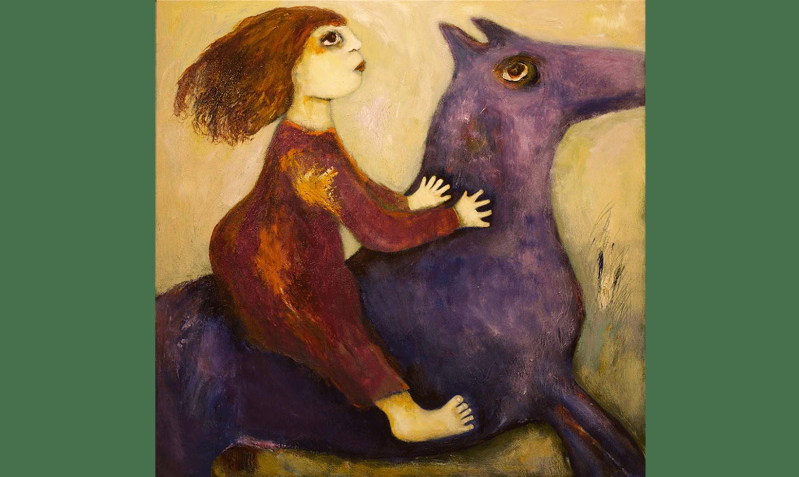 """""""A Child's Dream"""" Tecnica: Olio e acrilico su tela Dimensioni: 76 x 76 cm"""