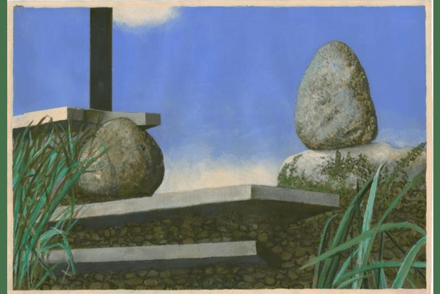 """""""Aufgang Gouache"""" Dimensioni: 65 x 93 cm Tecnica: Acrilico su carta Fabriano"""