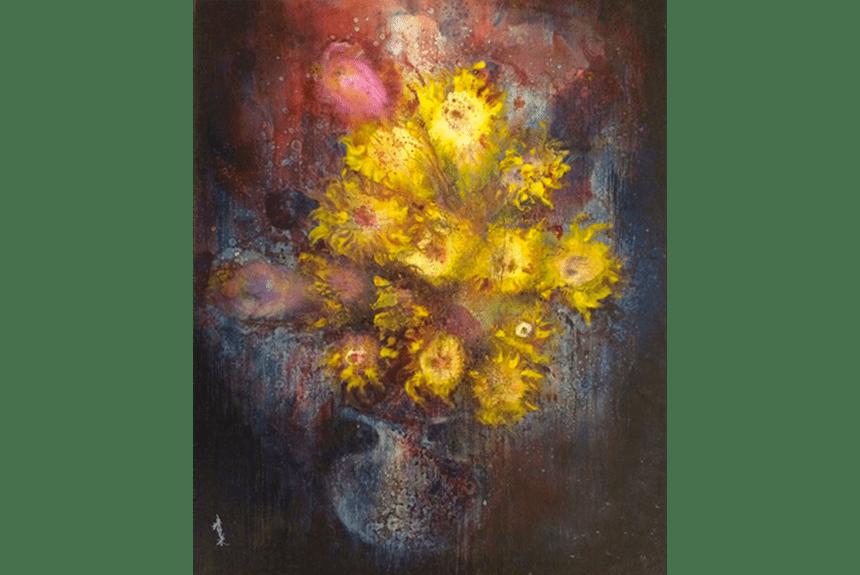 """Flower Series"" Tecnica: Olio su tela Dimensione: 120 x 150 cm"