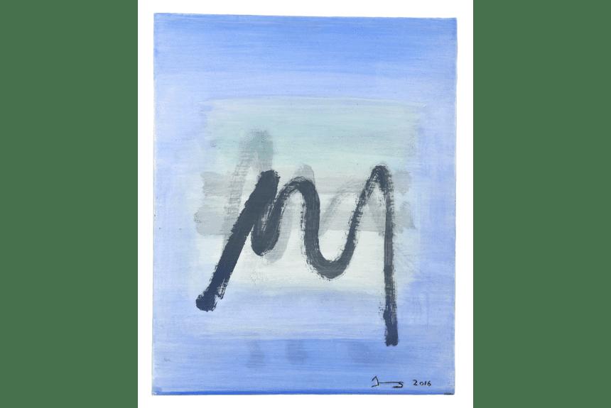 """""""Fragment I"""" Tecnica: mista su legno Dimensioni: 50 x 40 cm"""