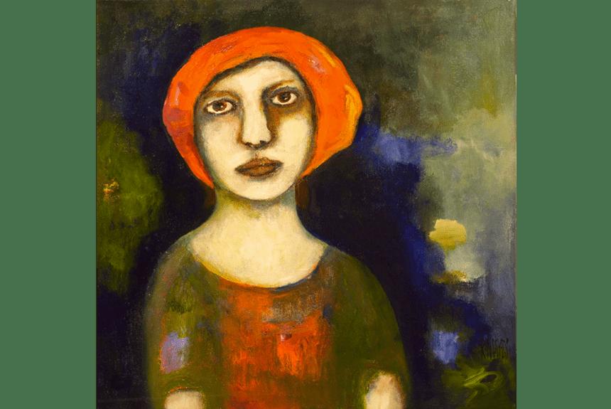 """""""Girl from Naples"""" Tecnica: Olio e acrilico su tela Dimensioni: 61 x 61 cm"""