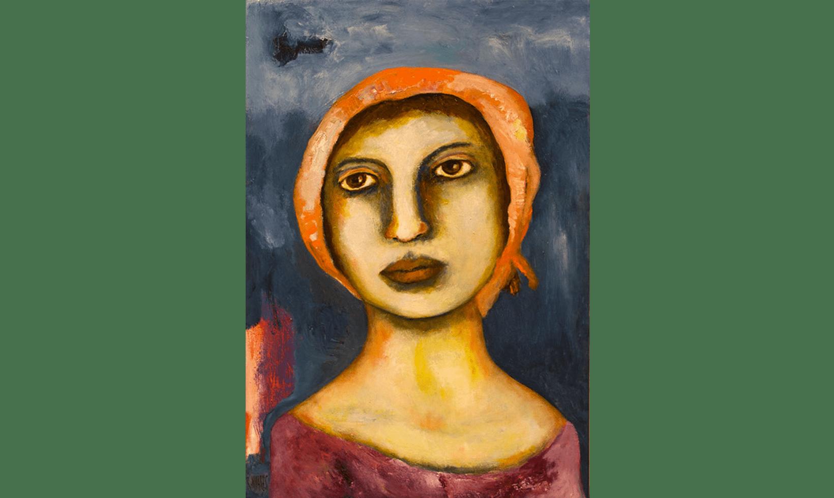 """""""Girl from Naples"""" Dimensioni: Olio e acrilico su tela Dimensioni: 91 x 61 cm"""