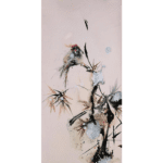 """N°05 Chinese flower and bird series"" Tecnica Olio su tela Dimensione: 30 x 60 cm"