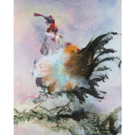 """N°08 Animal series"" Tecnica: olio su tela oil Dimensione: 80 x 100 cm"