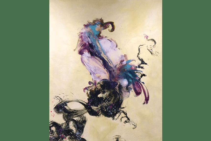 """N°29 Holy monster Series"" Tecnica: Olio su tela Dimensione: 120 x 153 cm"