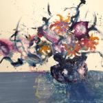 """""""N°33 Flower series"""" Tecnica: olio su tela Dimensione: 92 x 73 cm"""