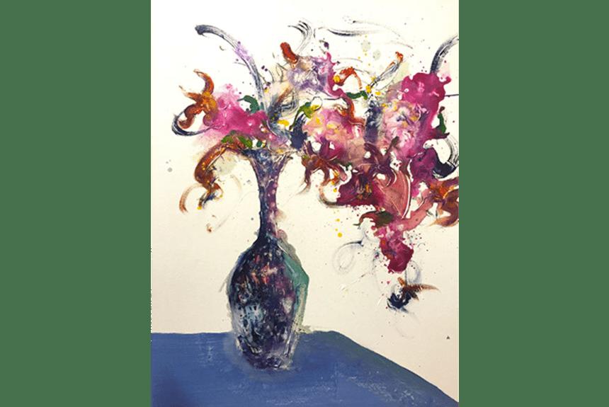 """""""N°34 Flower series"""" Tecnica: Olio su tela Dimensione: 73 x 92 cm"""