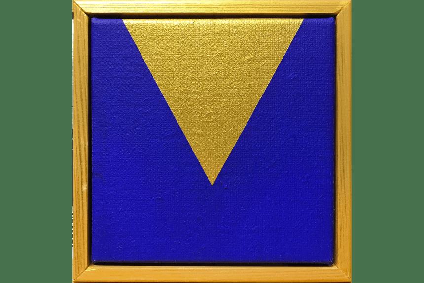 """""""Open mind"""" Tecnica: olio e acrilico su tela Dimensioni: 14,5 x 14,5 cm"""