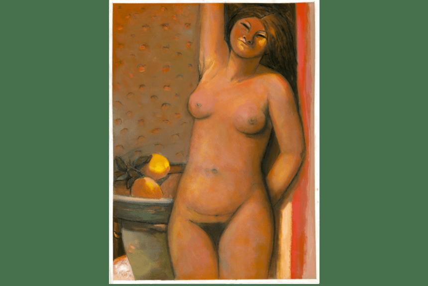 """Pomona"" tecnica: Gouache-Acryl dimensione 95 x 70 cm"