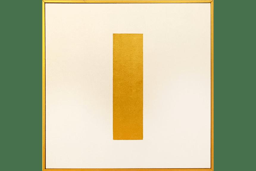 """""""The peace of I"""" Tecnica: olio e acrilico su tela Dimensioni: 52 x 52 cm"""