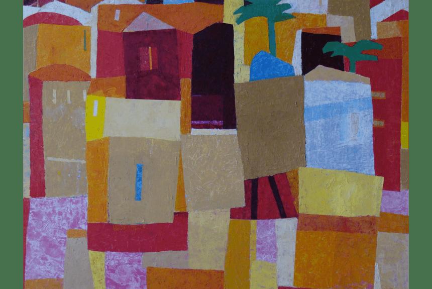 """""""Arabian village"""" Tecnica: Olio su tela Dimensioni: 75 x 55 cm"""