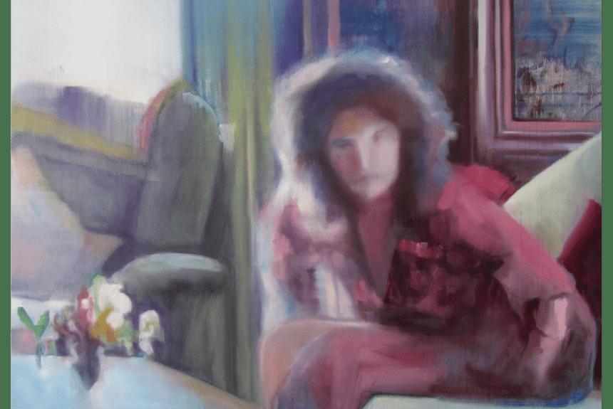"""""""As she rises"""" Tecnica: Olio su tela Dimensioni: 150 x 99 cm"""