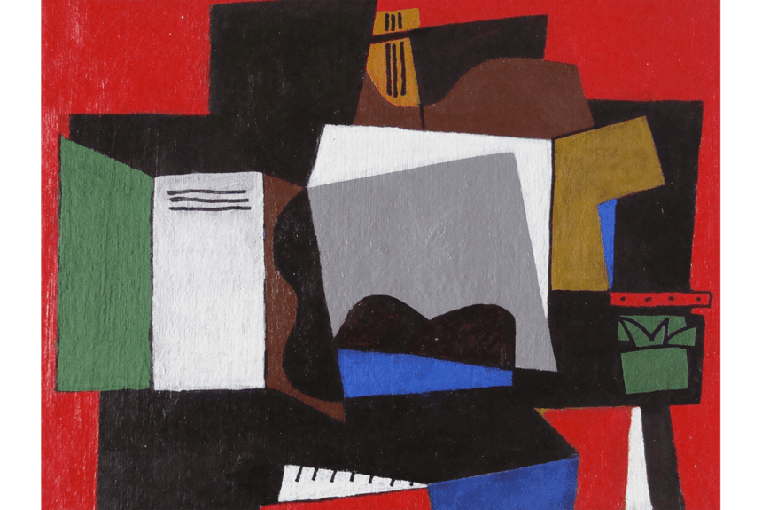 """""""Guitar and piano"""" Tecnica: Acrilico su carta Dimensioni: 53 x 43 cm"""