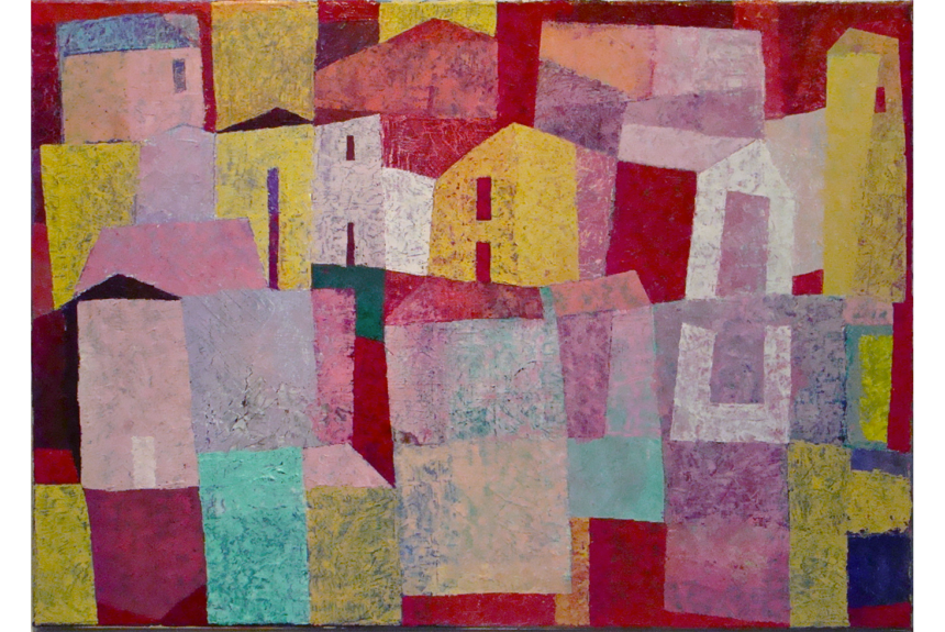 """""""Italian village"""" Tecnica: Olio su tela Dimensioni: 75 x 55 cm"""