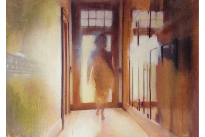 """The Hallway"" Tecnica: Olio su tela Dimensioni: 150 x 99 cm"