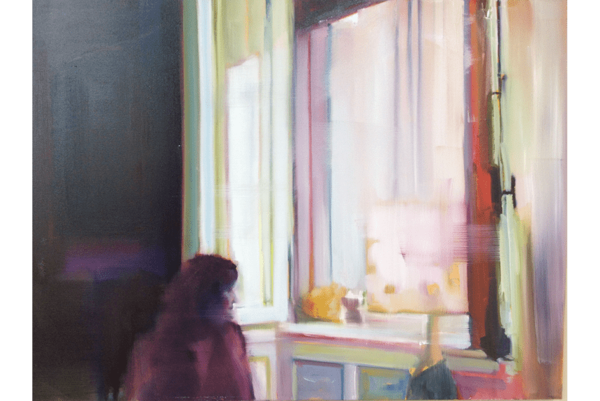 """""""The window"""" Tecnica: Olio su tela Dimensioni: 99 x 74 cm"""