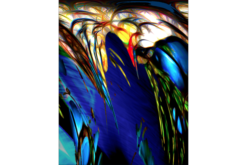 """""""King Fisher"""" technique: digital printing on aluminum and acrylic Dimension: 76,2 x 91,44 cm"""