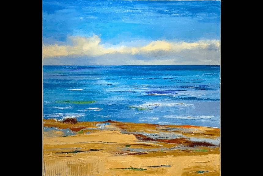 """Ann palmer """"Ebbing Tide"""" Tecnica: Olio su Tela Dimensioni: 61 x 61 cm"""