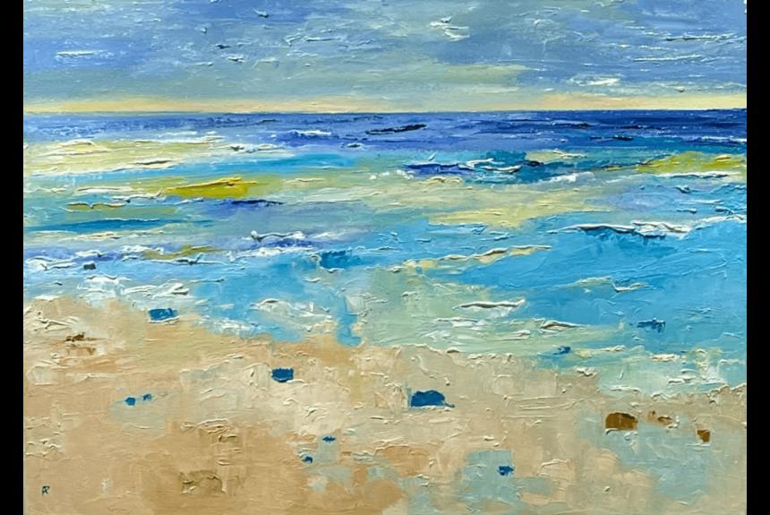 """Ann palmer """"The Milling Waters and the Seashore"""" Tecnica: Olio su Tela Dimensioni: 70 x 50 cm"""