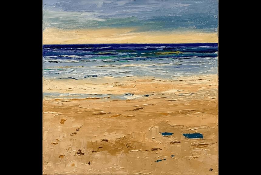 "Ann palmer ""Wet Sand as The Tide Goes Out"" Tecnica: Olio su Tela Dimensioni: 51 x 51 cm"